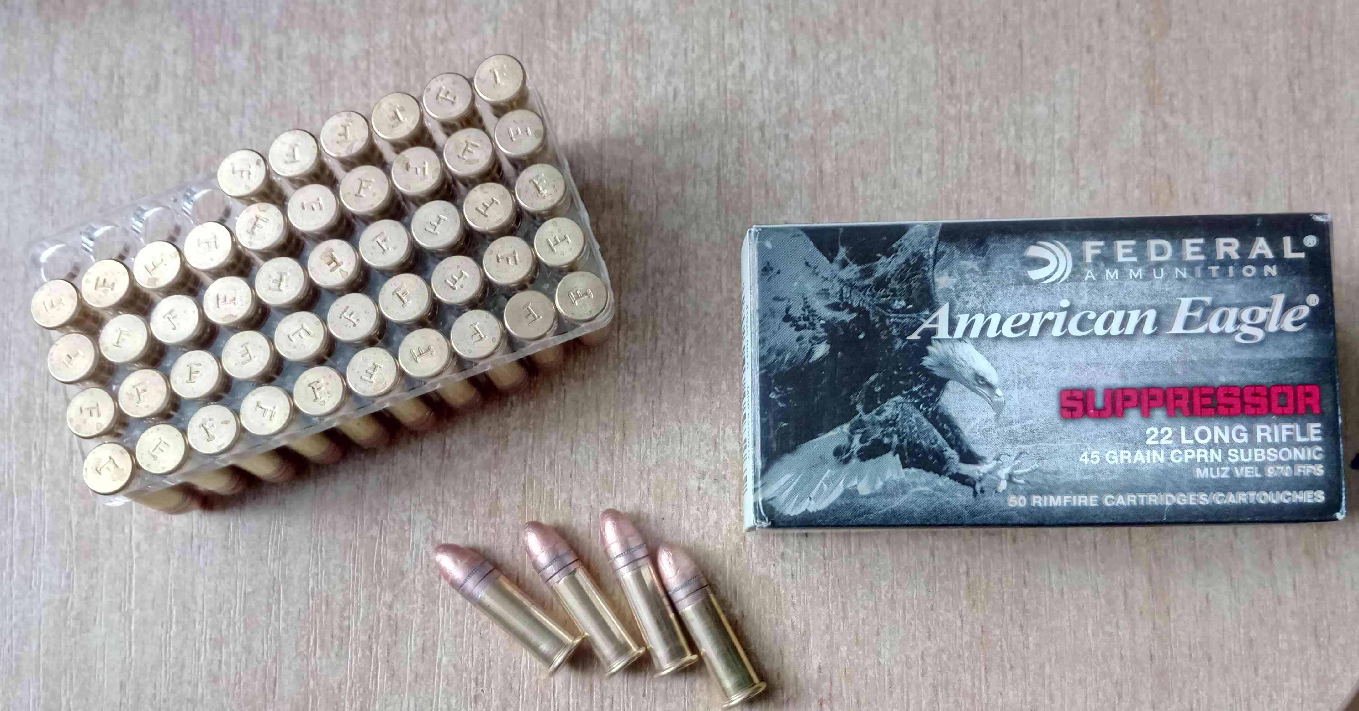 .22LR Federal AMERICAN EAGLE Suppressor 45gr